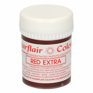 Sugarflair - Max Concentrate Paste Colour RED EXTRA 42g