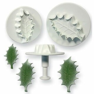 PME Holly leaf plunger cutter set/3 Large size