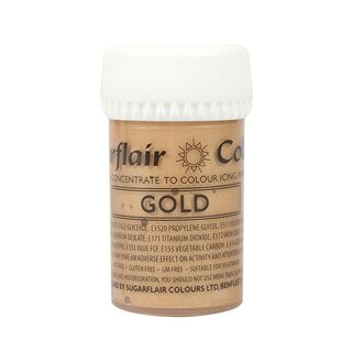 Sugarflair Paste Colour Satin GOLD 25g