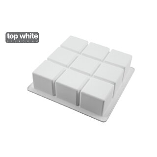 CUBIK - SILICONE MOULD 172X172 H 50 MM White
