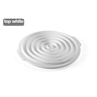 INSERT DECOR ROUND - SILICONE MOULD FROM ø40 TO ø260 MM White