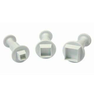 Mini Square Plunger Cutter Set of 3