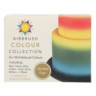 Sugarflair Airbrush Colour Collection Alcohol Free 8x14ml
