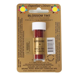 Sugarflair Blossom Tint Dusting Colours - Burgundy